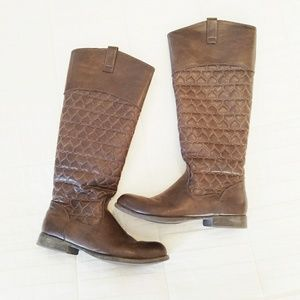 Betsy Johnson 8.5 With Love Heart Knee High Boots